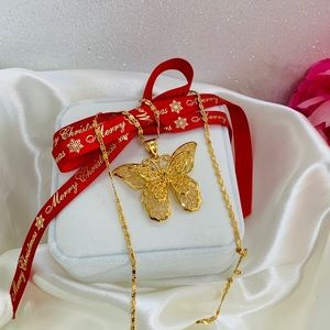 Morena and Proud butterfly necklace